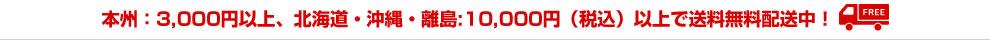 本州:合計3,000円以上・北海道・沖縄・離島:合計10,000円以上で送料無料!
